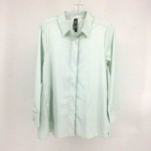 MarlaWynne Top Women Small Button Front Collar